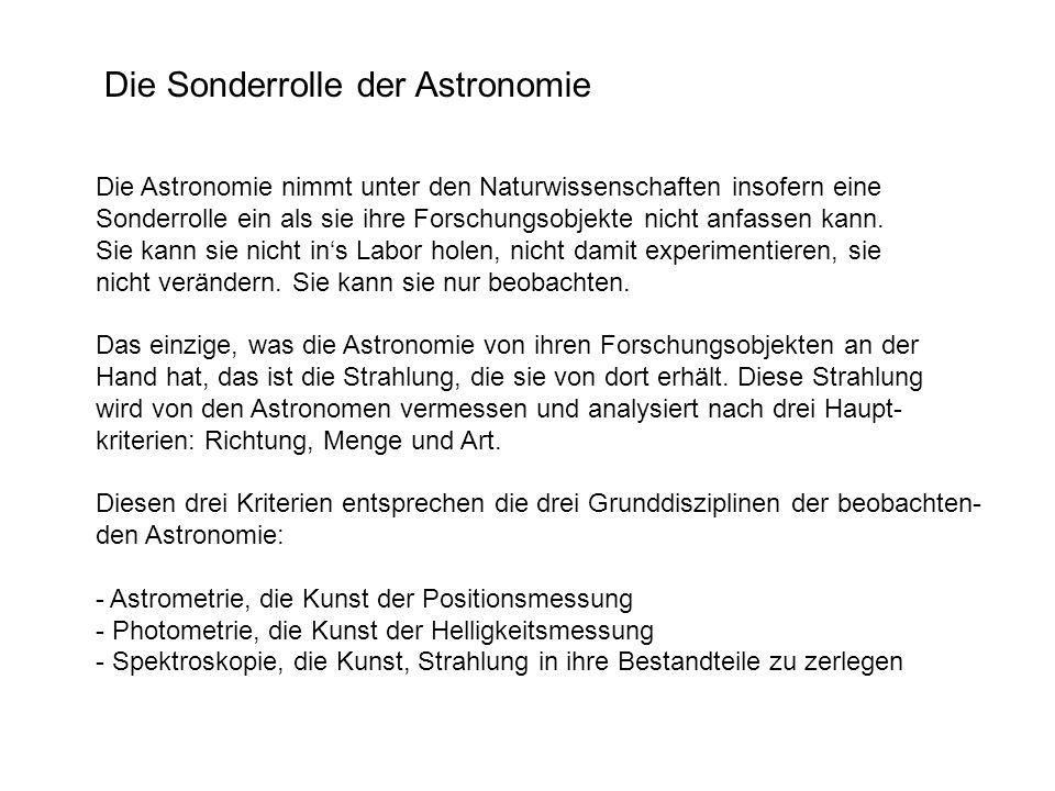 Die Sonderrolle der Astronomie
