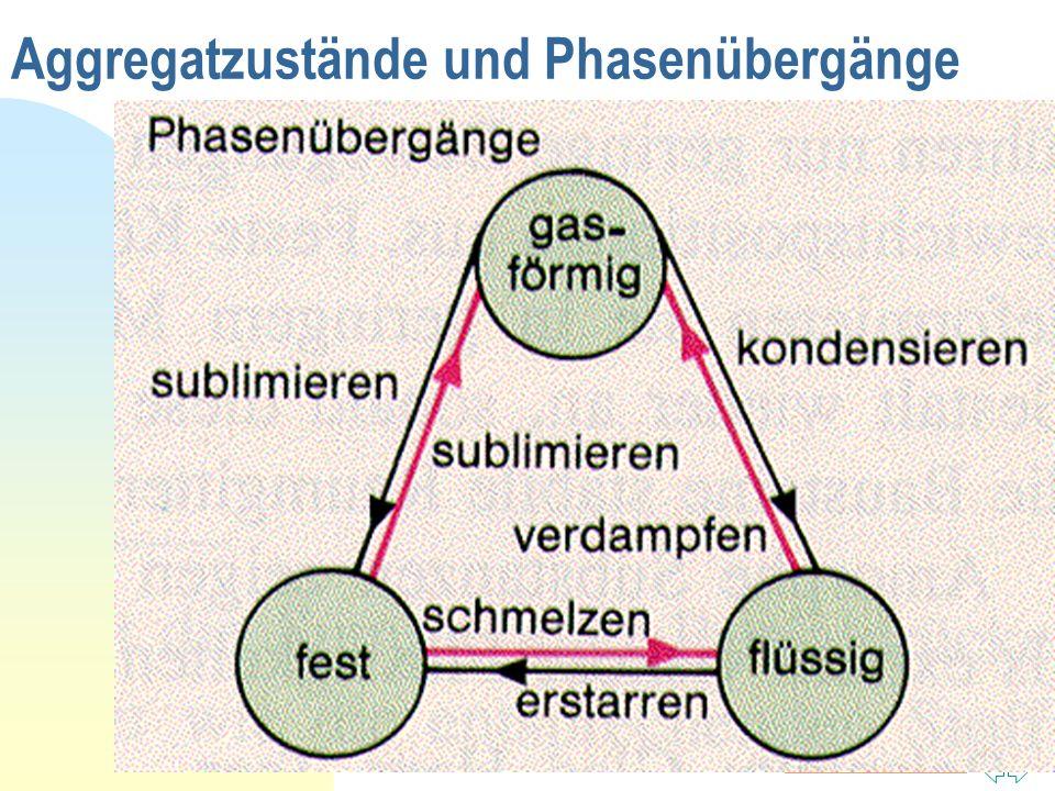 Aggregatzustände und Phasenübergänge