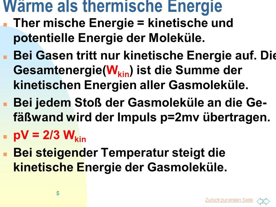 Wärme als thermische Energie