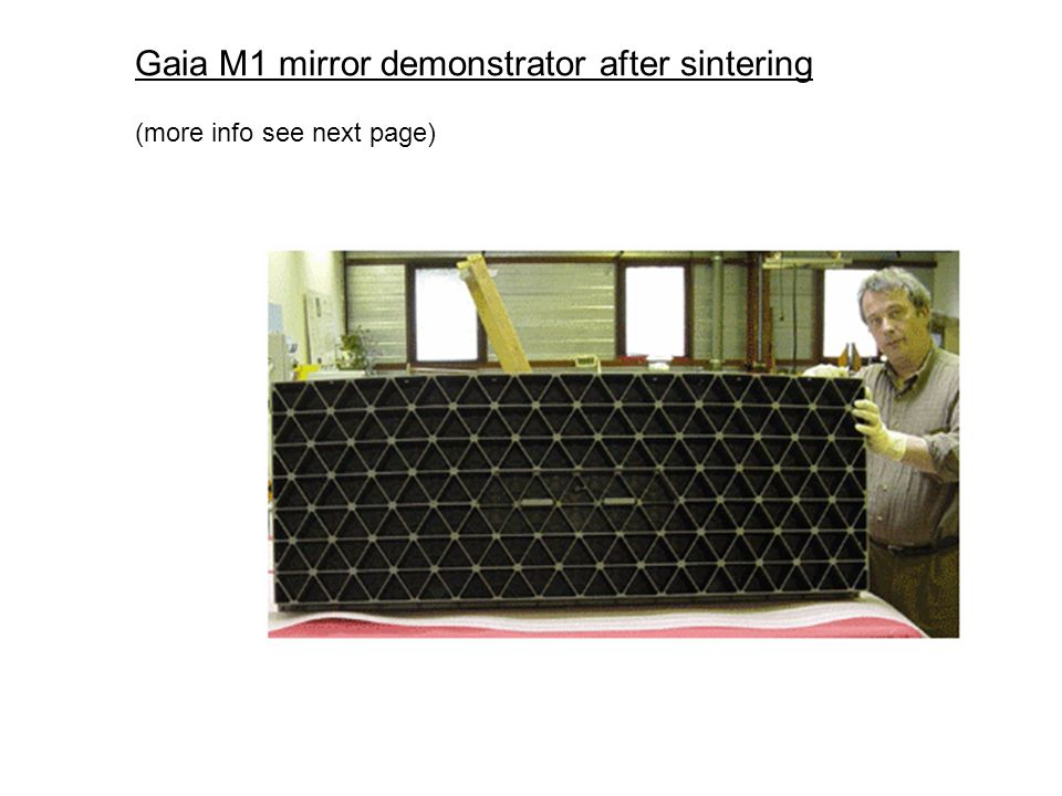 Gaia M1 mirror demonstrator after sintering