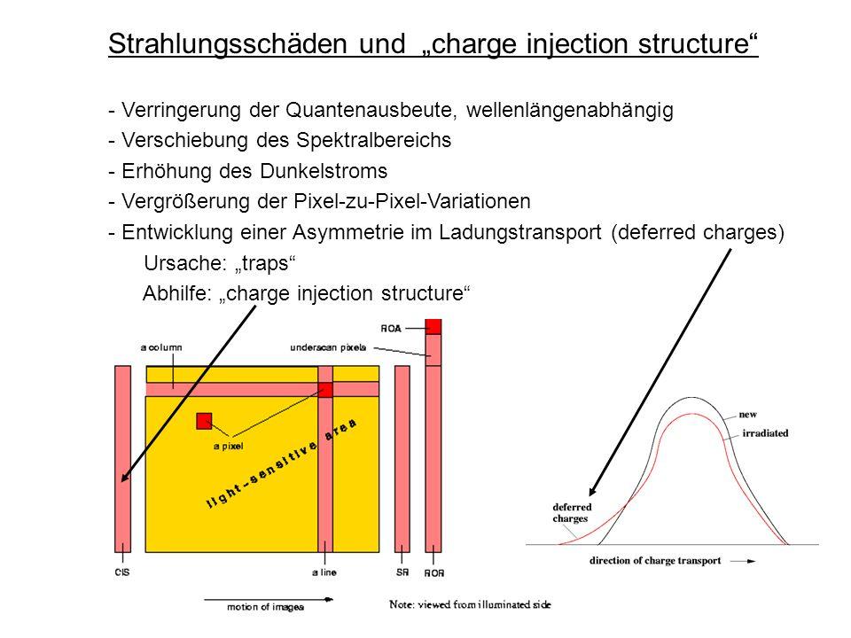 """Strahlungsschäden und """"charge injection structure"""