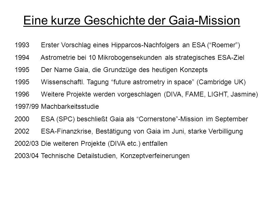 Eine kurze Geschichte der Gaia-Mission