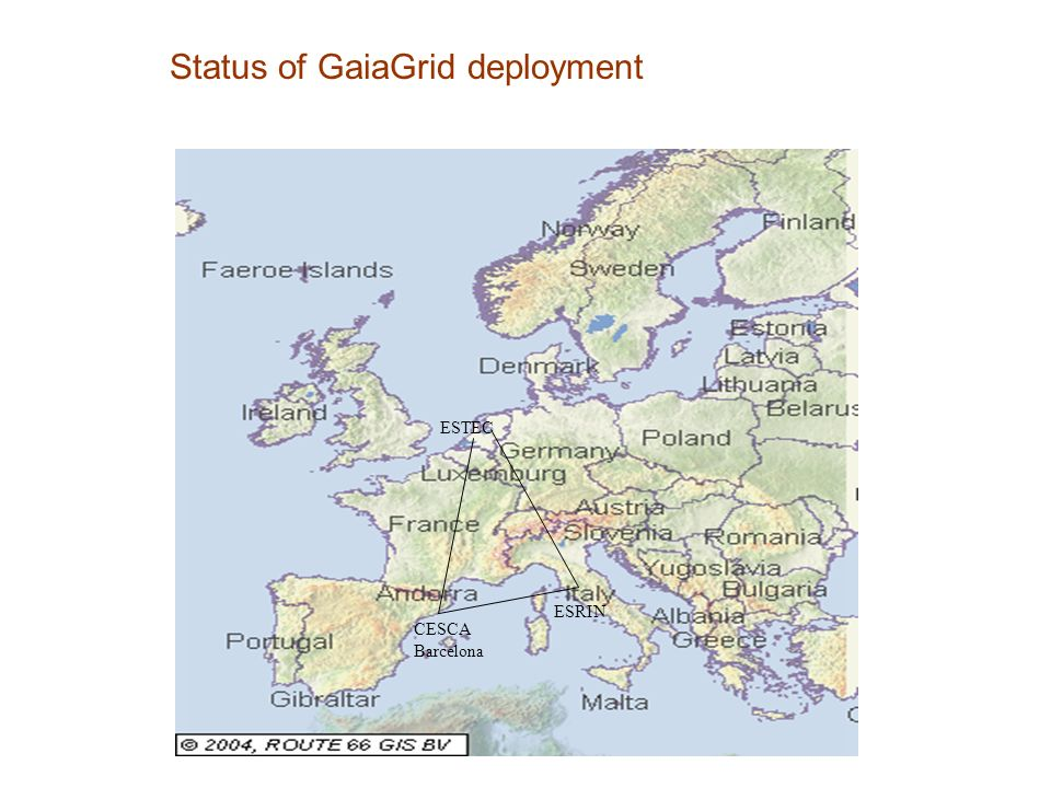 Status of GaiaGrid deployment