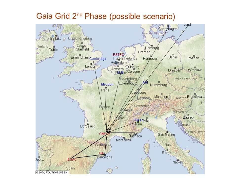 Gaia Grid 2nd Phase (possible scenario)