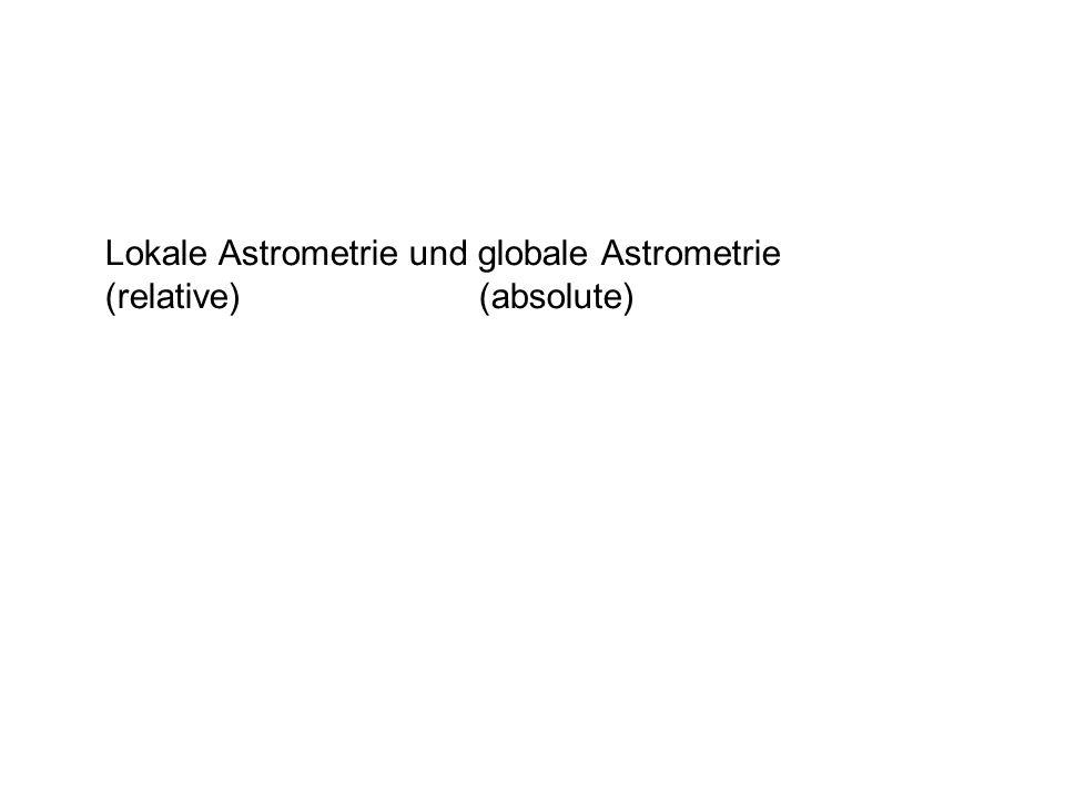 Lokale Astrometrie und globale Astrometrie