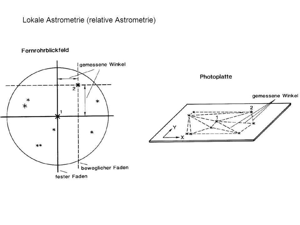 Lokale Astrometrie (relative Astrometrie)