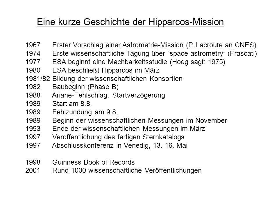 Eine kurze Geschichte der Hipparcos-Mission