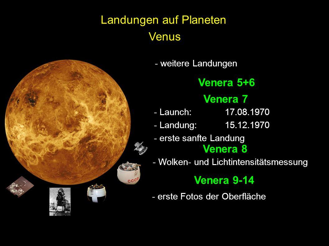Landungen auf Planeten Venus