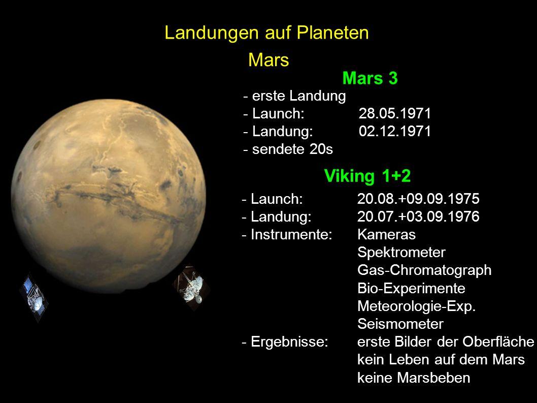 Landungen auf Planeten Mars