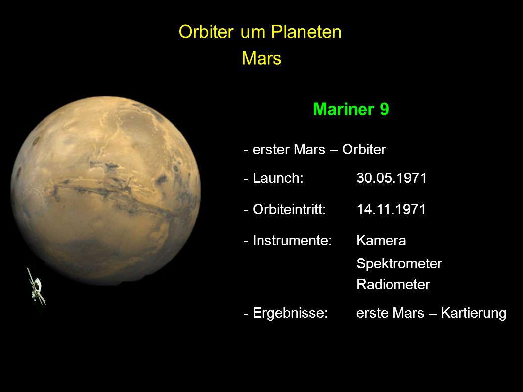 Orbiter um Planeten Mars Mariner 9 - erster Mars – Orbiter