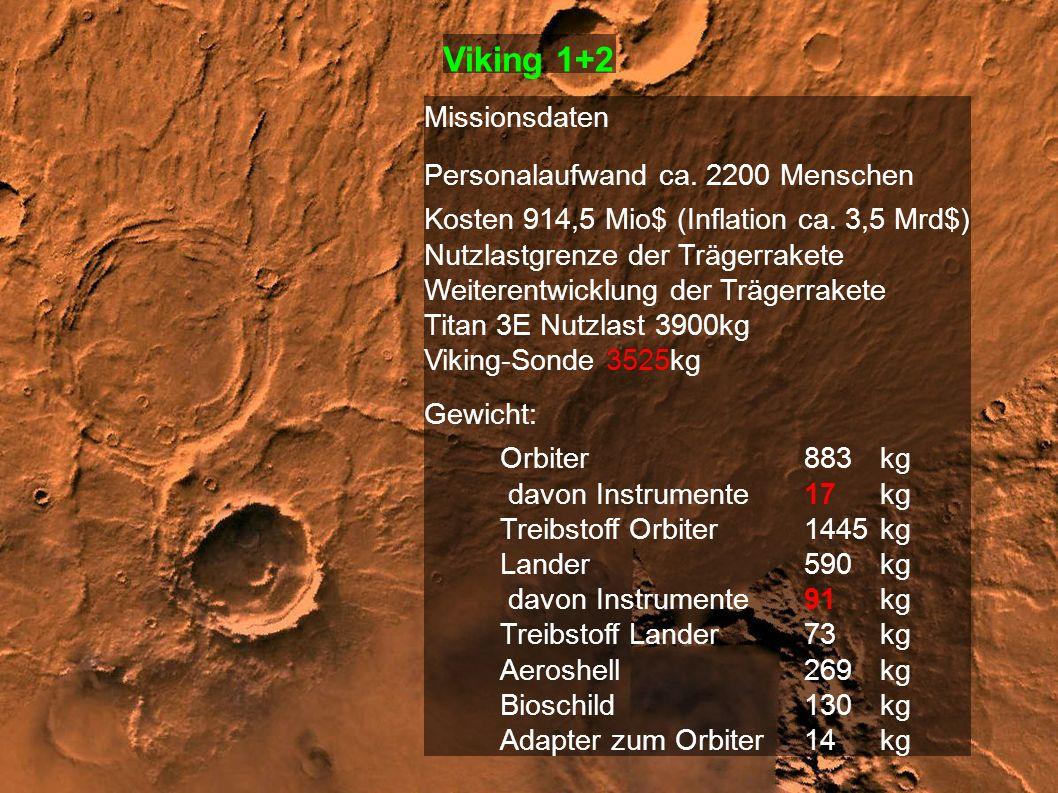 Viking 1+2 Missionsdaten Personalaufwand ca. 2200 Menschen