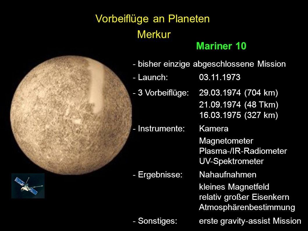 Vorbeiflüge an Planeten Merkur