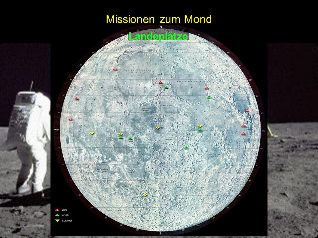 Missionen zum Mond Landeplätze