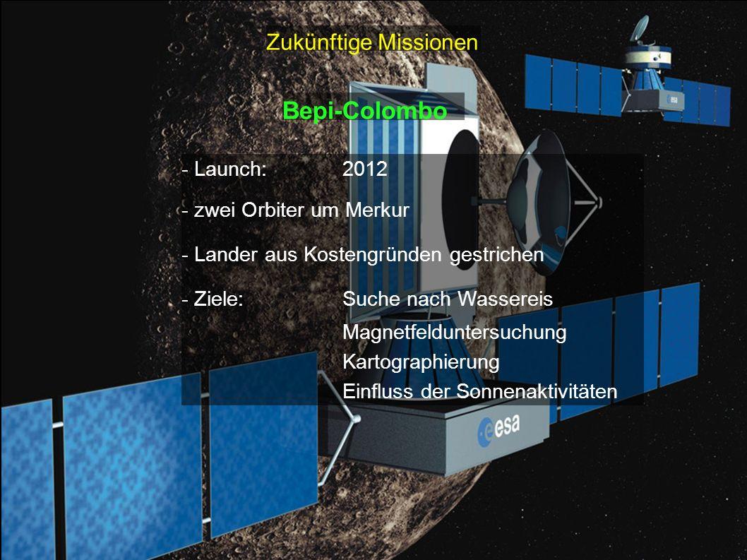 Bepi-Colombo Zukünftige Missionen - Launch: 2012