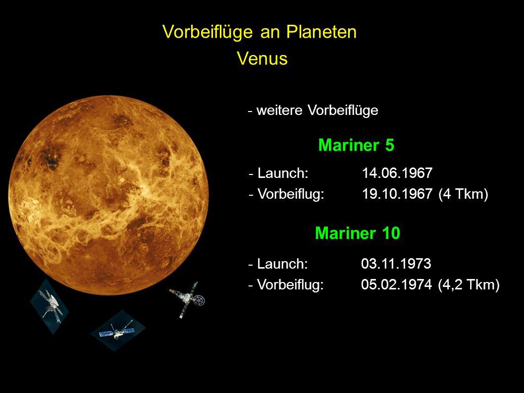 Vorbeiflüge an Planeten Venus