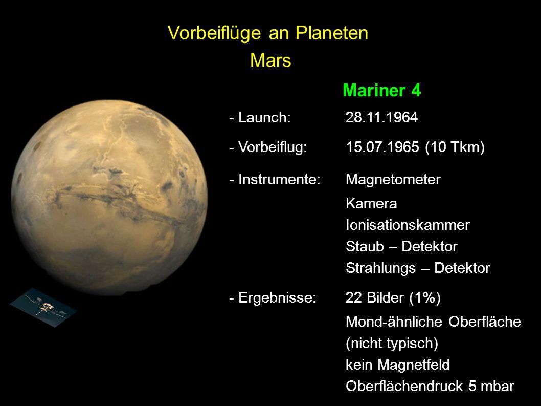 Vorbeiflüge an Planeten Mars