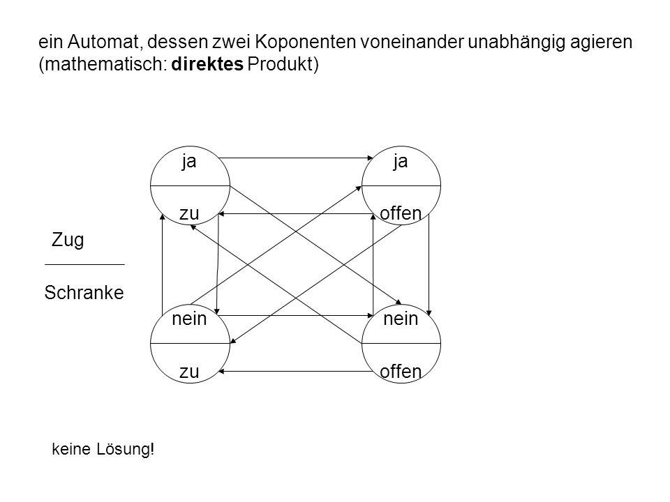 ein Automat, dessen zwei Koponenten voneinander unabhängig agieren (mathematisch: direktes Produkt)
