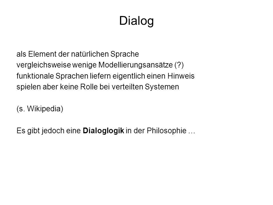 Dialog als Element der natürlichen Sprache