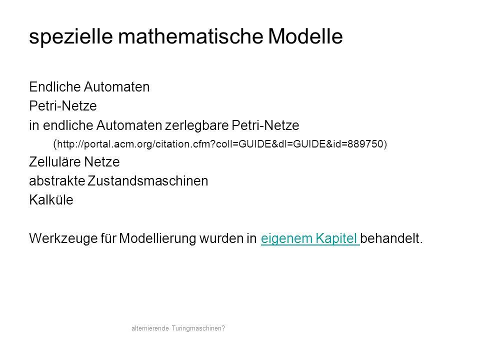spezielle mathematische Modelle