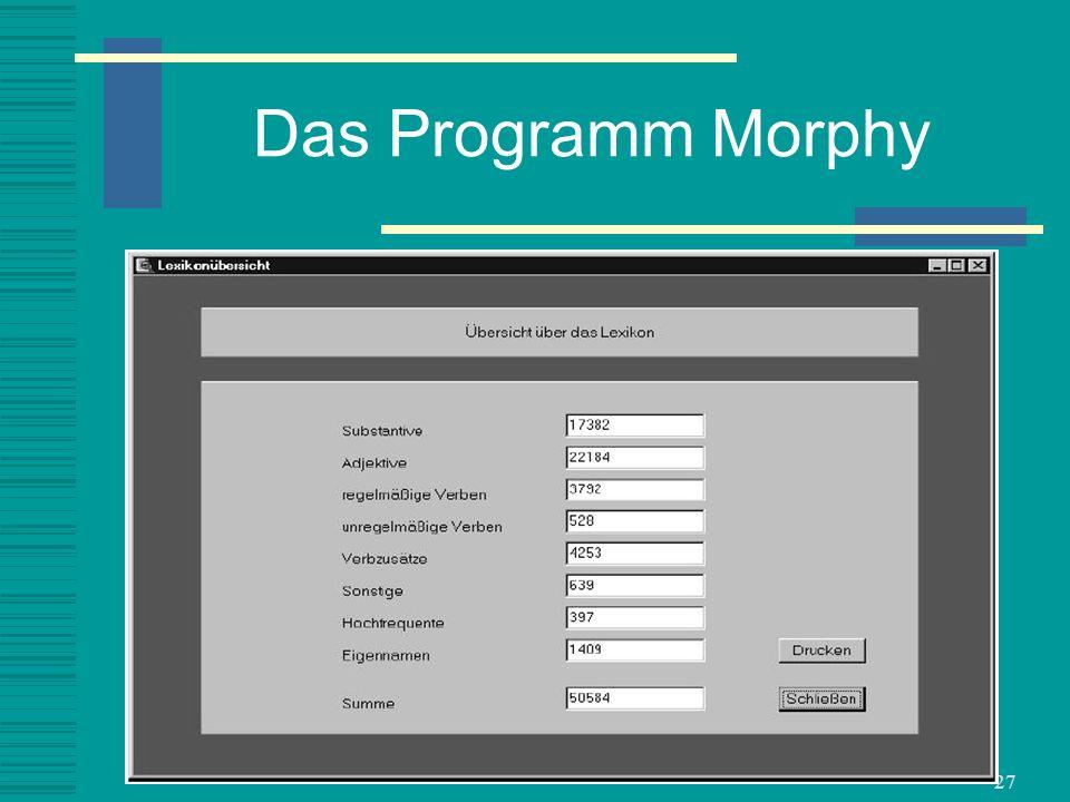 Das Programm Morphy
