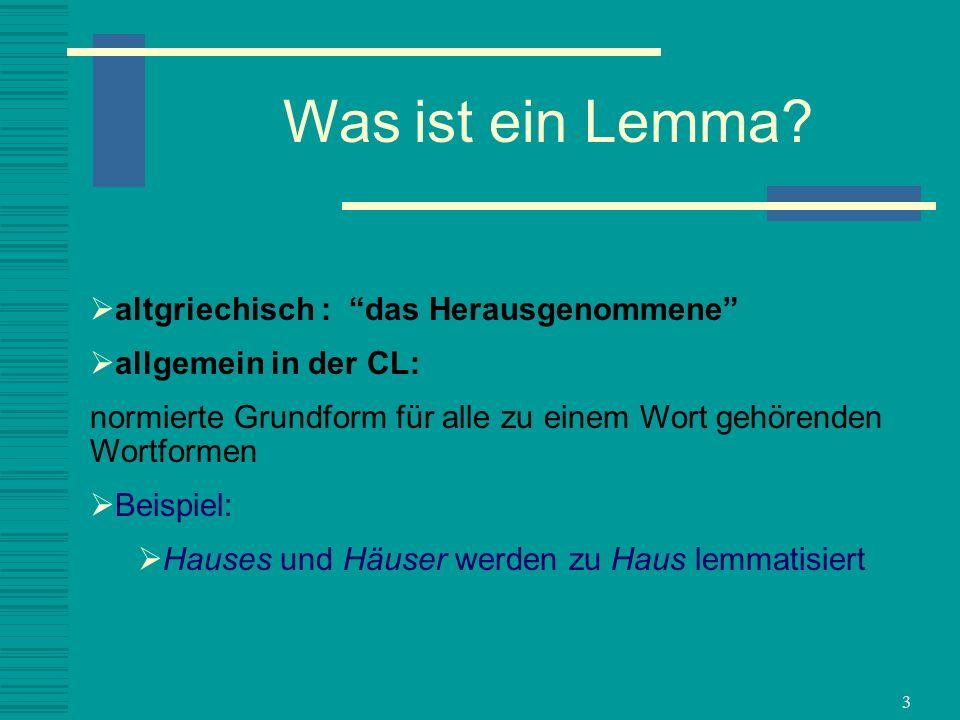 Was ist ein Lemma altgriechisch : das Herausgenommene
