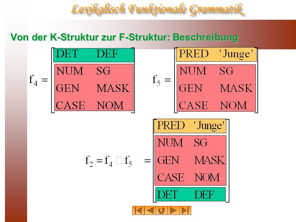 Von der K-Struktur zur F-Struktur: Beschreibung