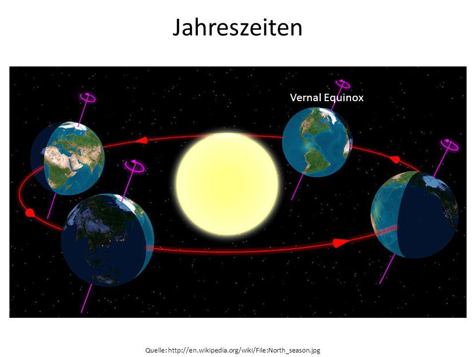 Jahreszeiten Vernal Equinox