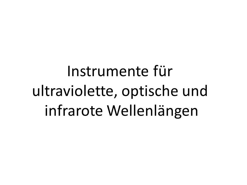 ultraviolette, optische und infrarote Wellenlängen
