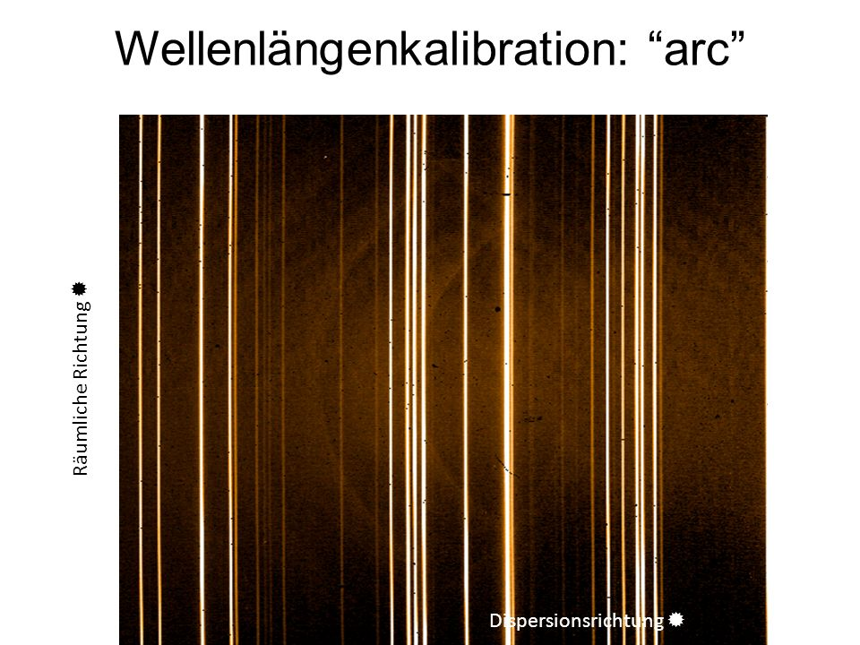 Wellenlängenkalibration: arc
