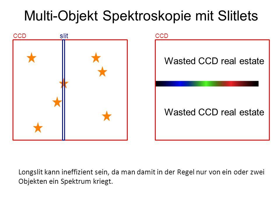 Multi-Objekt Spektroskopie mit Slitlets