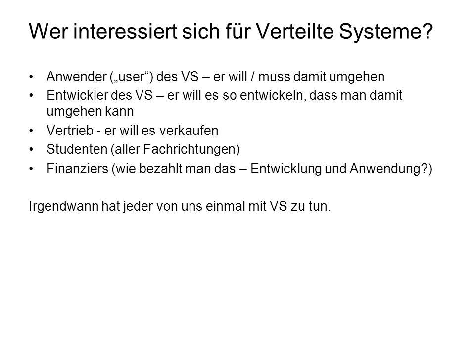 Wer interessiert sich für Verteilte Systeme