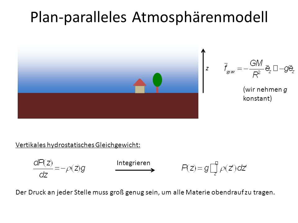 Plan-paralleles Atmosphärenmodell