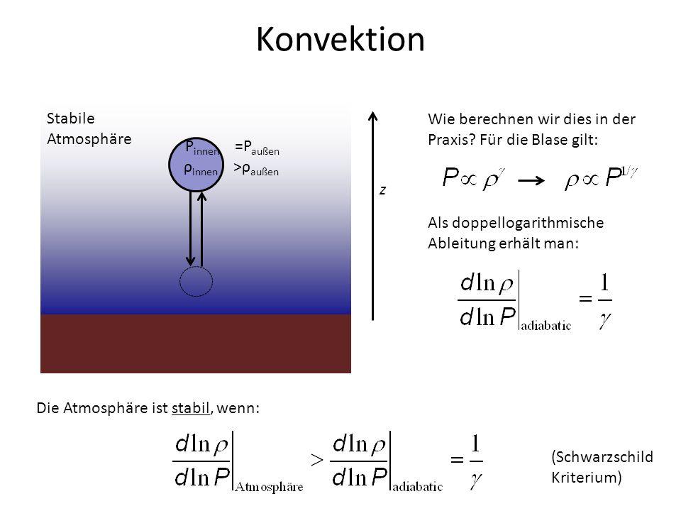 Konvektion Stabile Atmosphäre