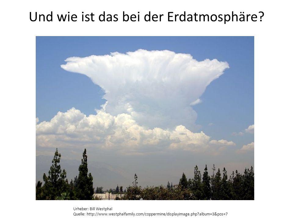 Und wie ist das bei der Erdatmosphäre