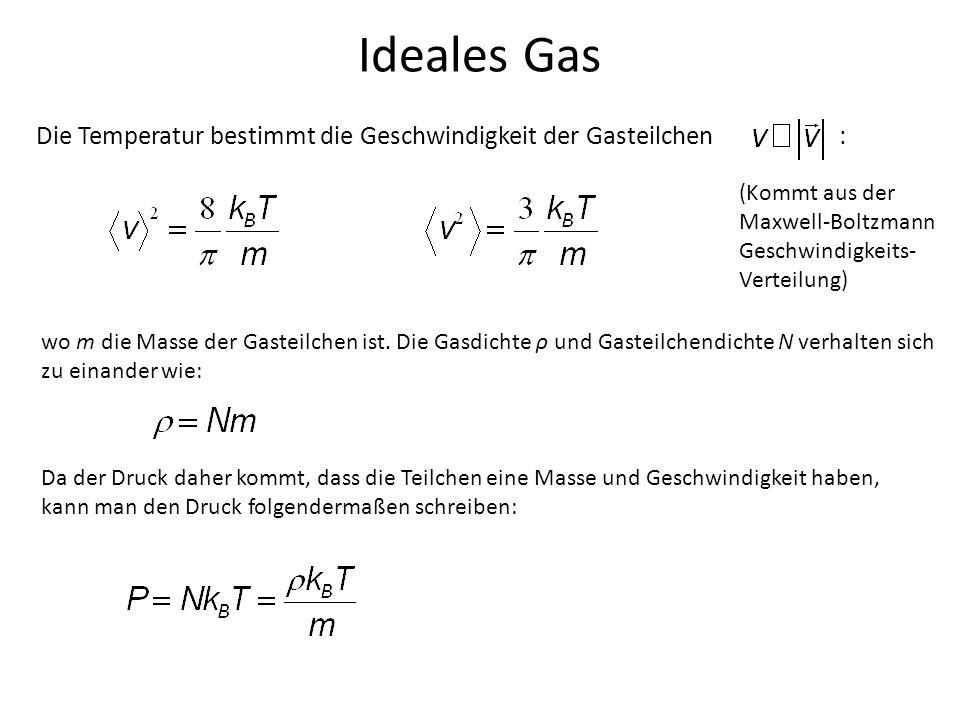 Ideales Gas Die Temperatur bestimmt die Geschwindigkeit der Gasteilchen : (Kommt aus der.