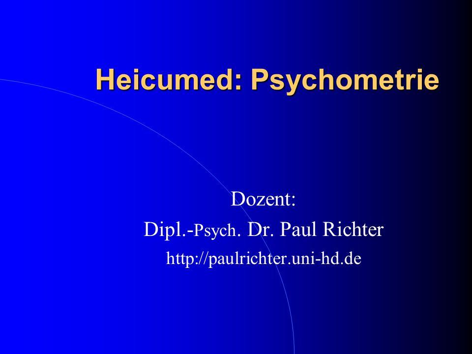 Heicumed: Psychometrie