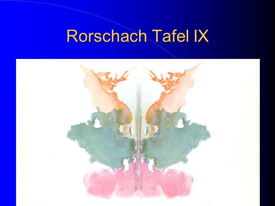 Rorschach Tafel IX