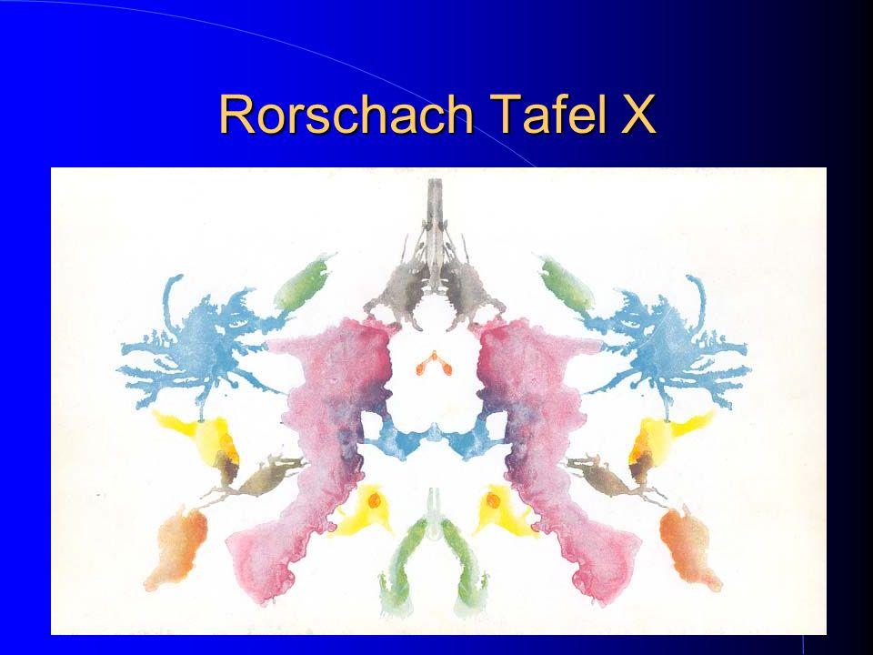 Rorschach Tafel X