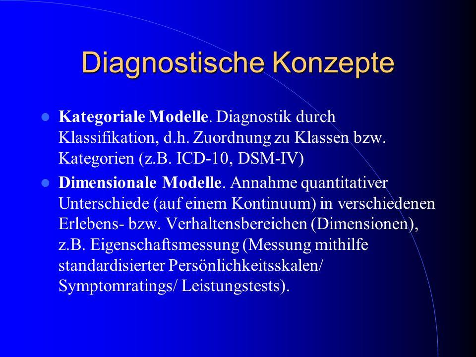 Diagnostische Konzepte