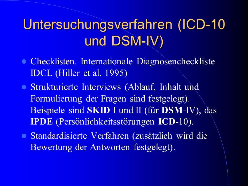 Untersuchungsverfahren (ICD-10 und DSM-IV)