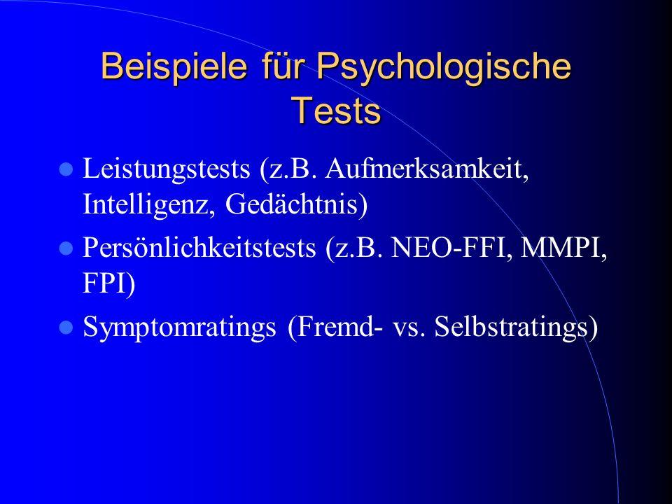 Beispiele für Psychologische Tests