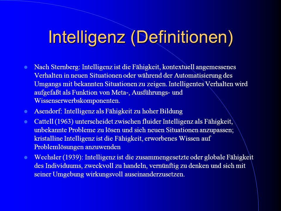 Intelligenz (Definitionen)