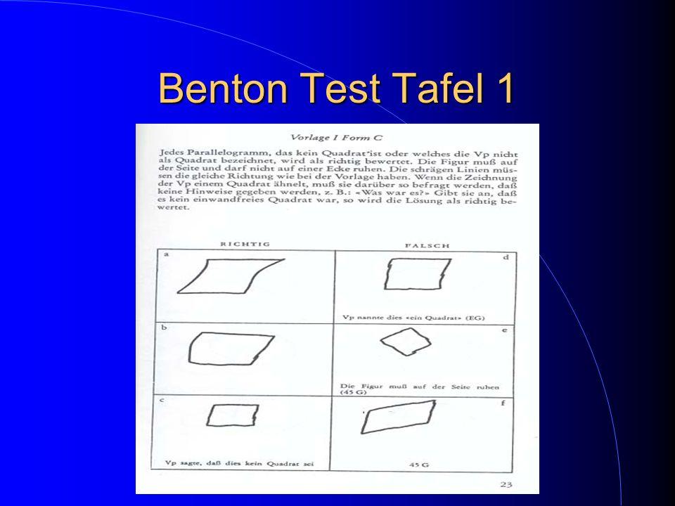 Benton Test Tafel 1