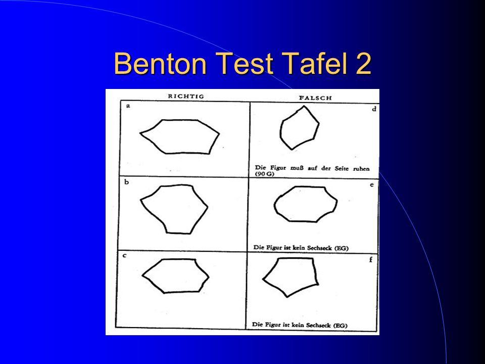 Benton Test Tafel 2