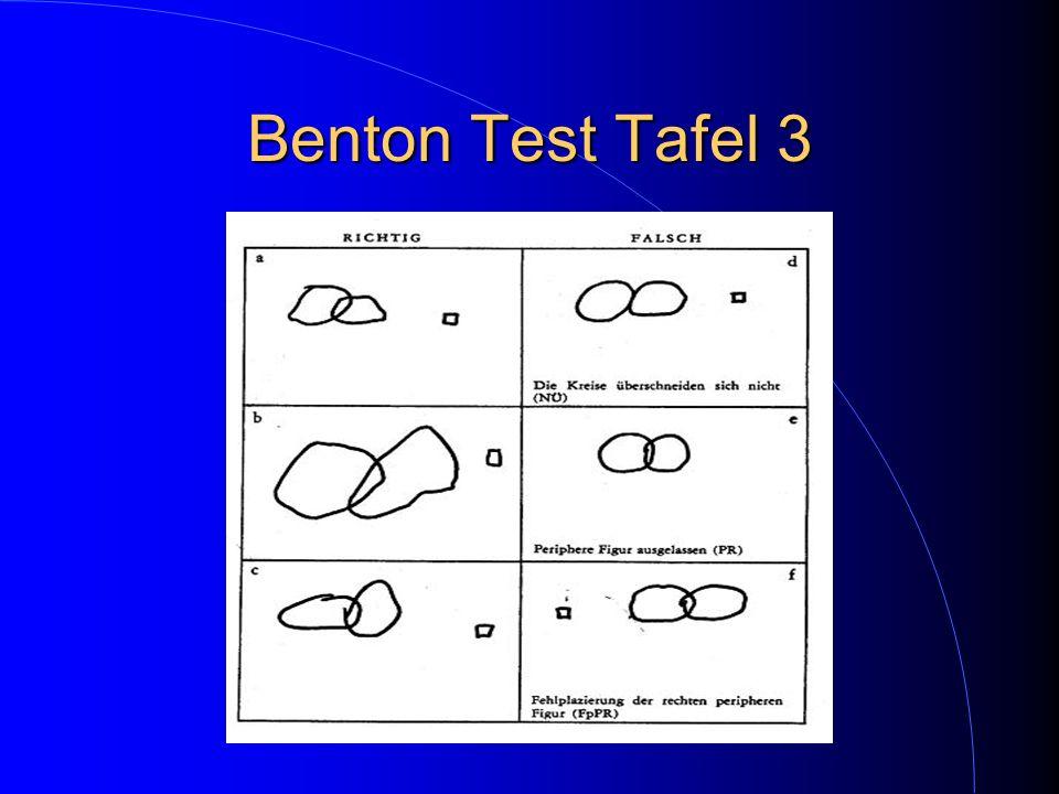 Benton Test Tafel 3