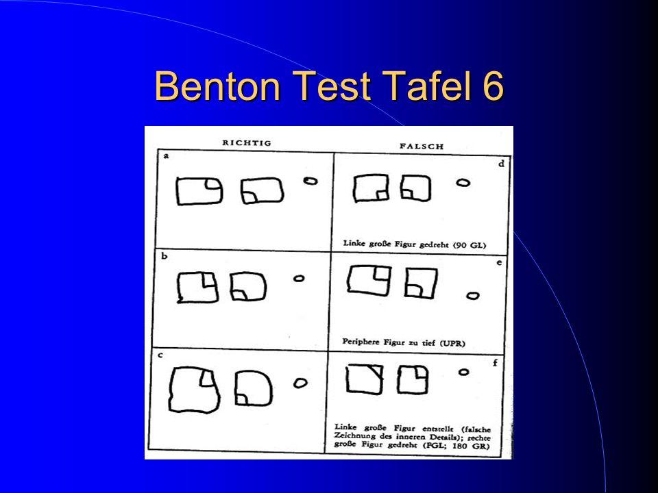 Benton Test Tafel 6