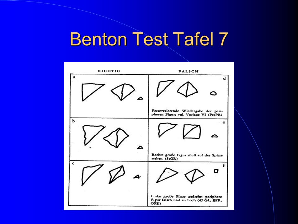 Benton Test Tafel 7