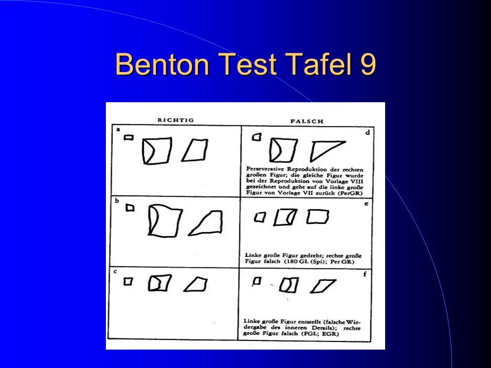 Benton Test Tafel 9