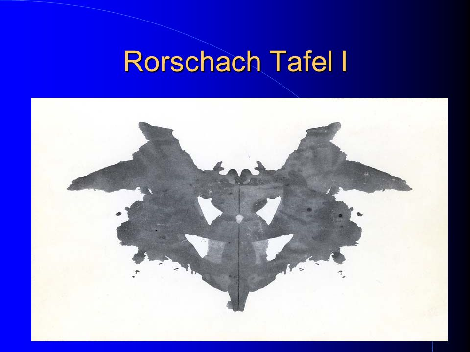Rorschach Tafel I