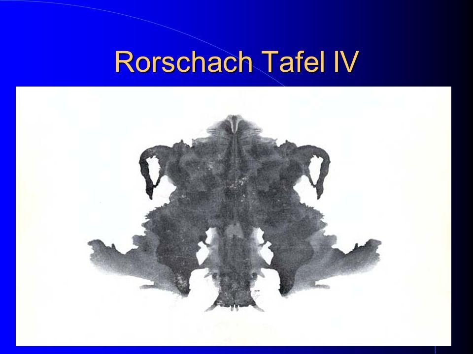 Rorschach Tafel IV
